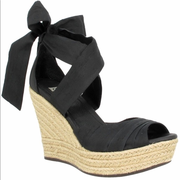 787b6b82135 UGG Lucianna rope wedge heels silk ribbon tie